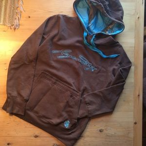 Legendary Whitetails S textpac brown blue hoodie